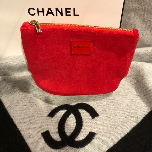7e40b4bcaf41 CHANEL Bags | Authentic Nwot Red Velvet Makeup Bag | Poshmark